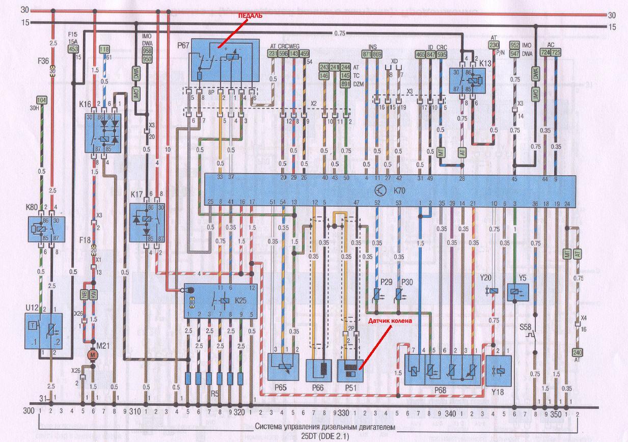Опель омега схема датчика температуры