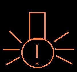 загорелась лампочка с восклицательным знаком в треугольнике